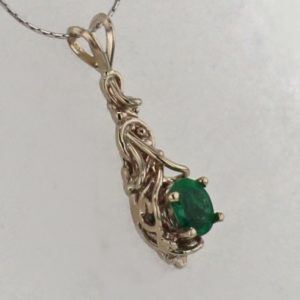 14kw Gold and Natural Emerald Pendant