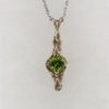 14k White Gold and Peridot Pendant $719