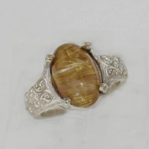 SS & Rutilated Quartz Ring $199