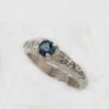 Sterling Silver and Natural Blue Topaz Ring
